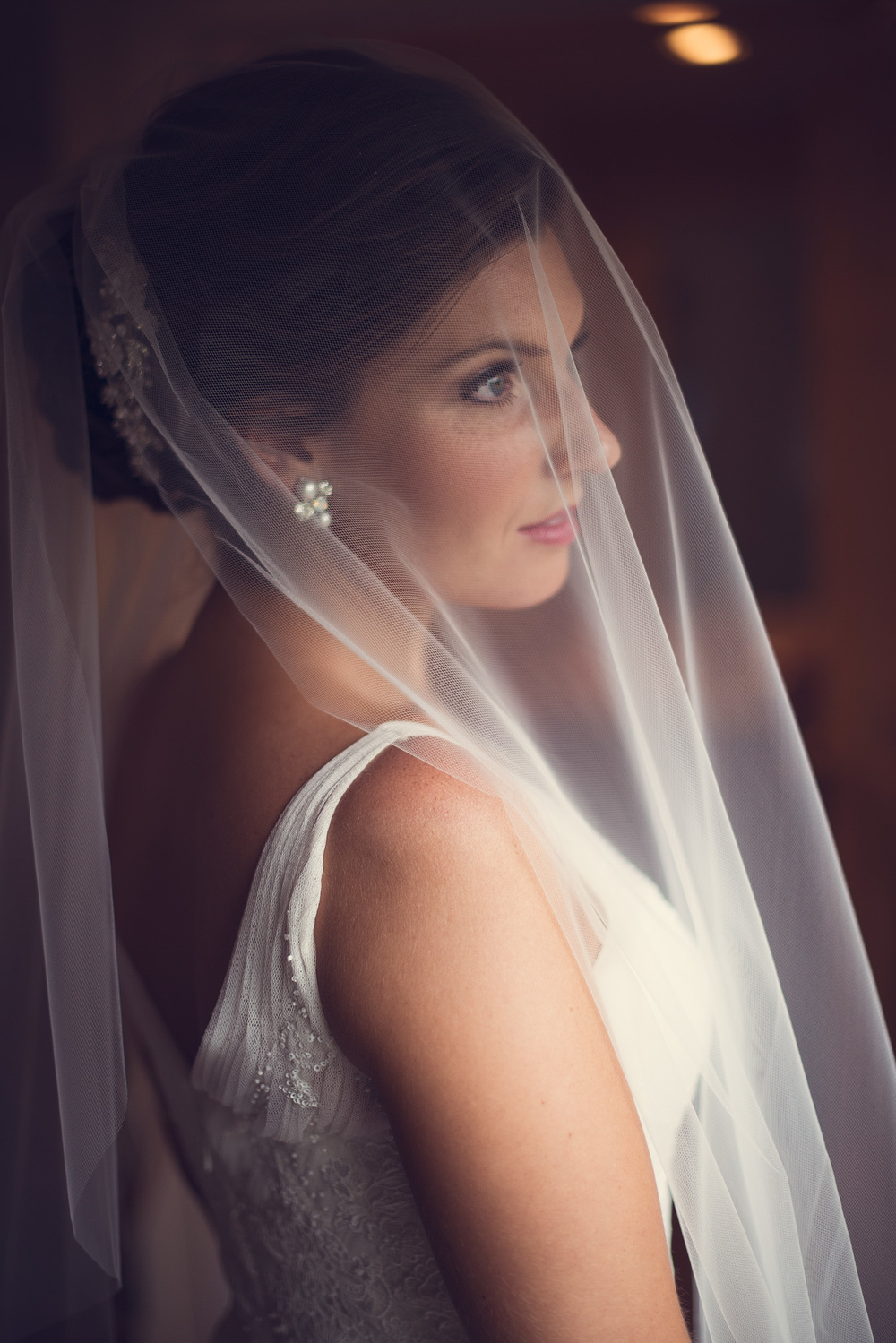 bride veil window light beauty portrait THPHOTO