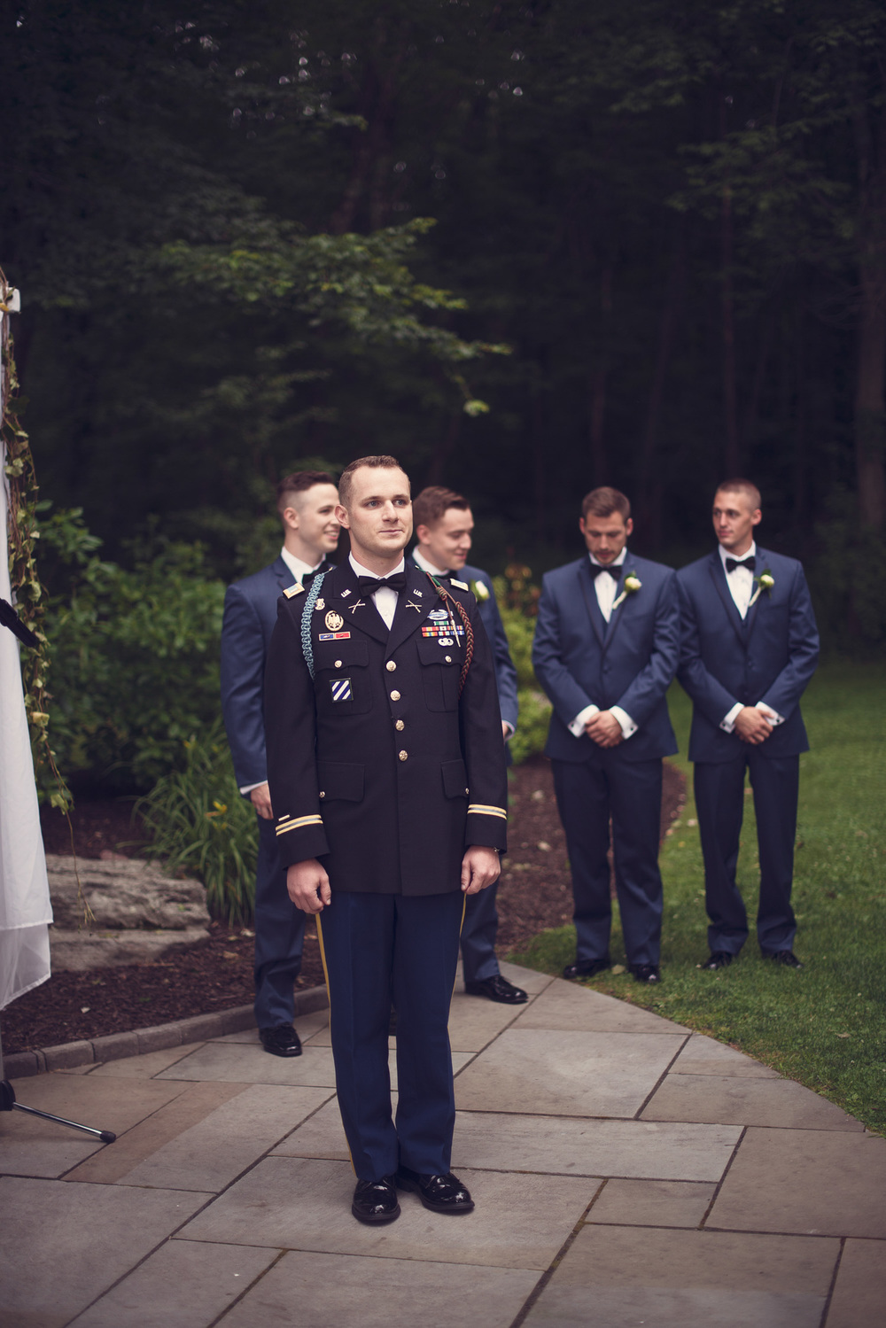 groom 1LT First Lieutenant ceremony formal alter portrait THPHOTO waiting