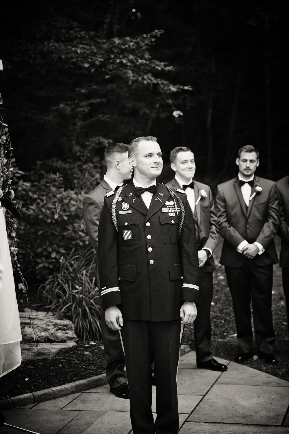groom 1LT First Lieutenant ceremony formal alter portrait waiting THPHOTO