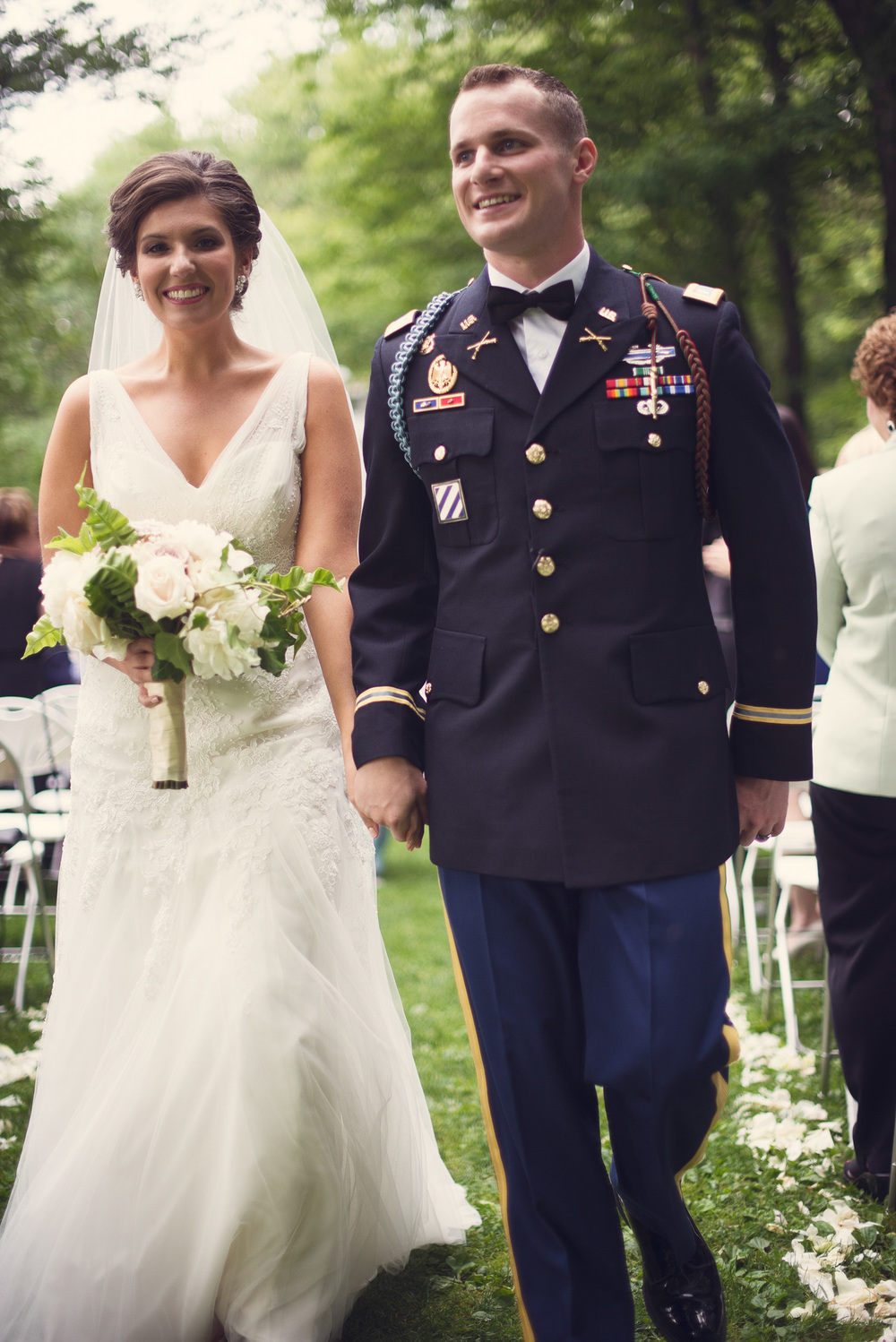 wedding bride groom 1LT First Lieutenant ceremony husband wife marriage THPHOTO Mountain Spring Lake Hotel