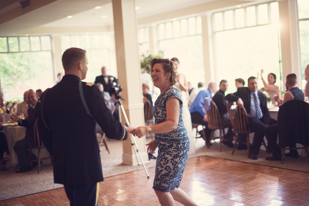 wedding groom army mother son dancefloor reception