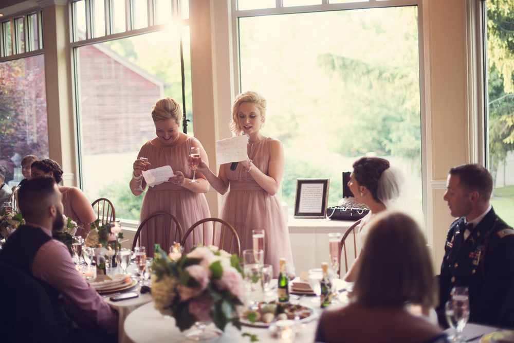 wedding reception toast speech maid of honor