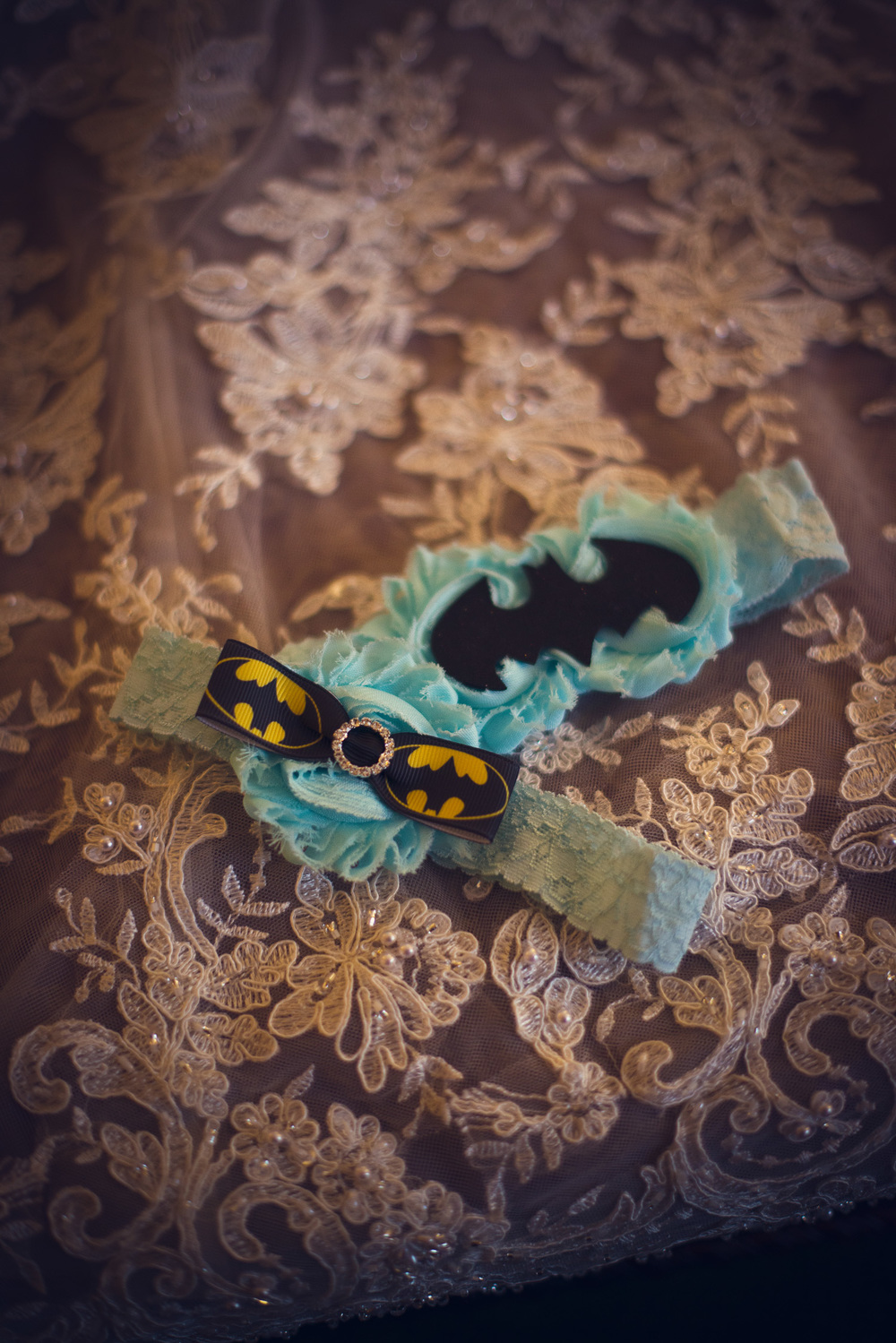 batman garter dc details something blue superhero