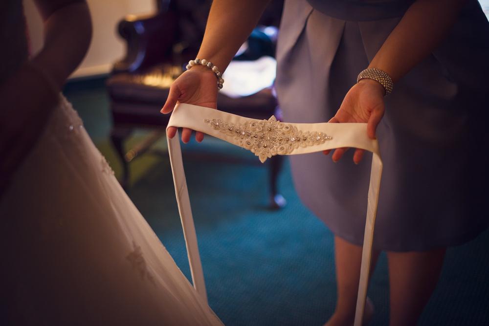 dress belt diamonds details