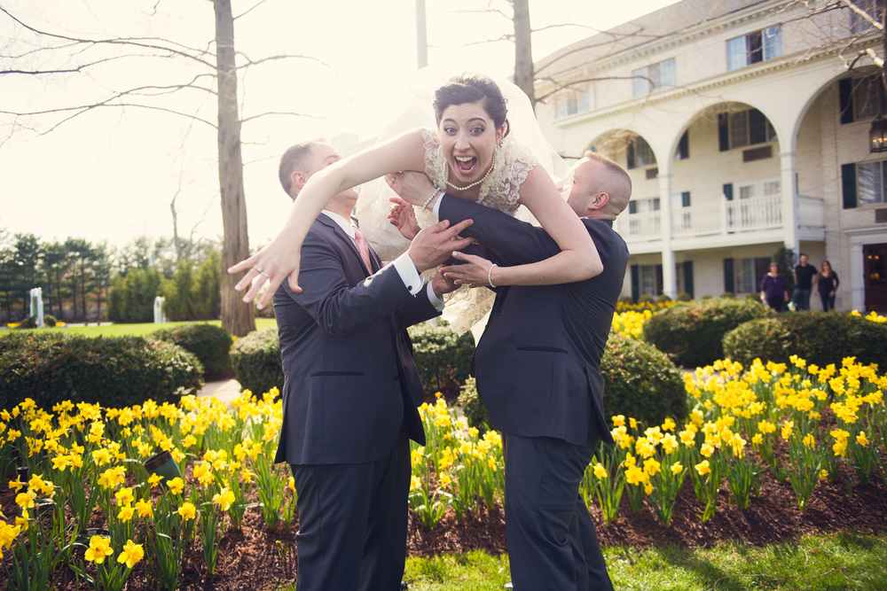bride groomsmen holding tossing throwing portrait THPHOTO