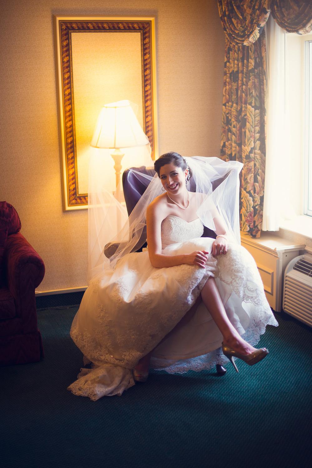 bride smiling window light portrait THPHOTO