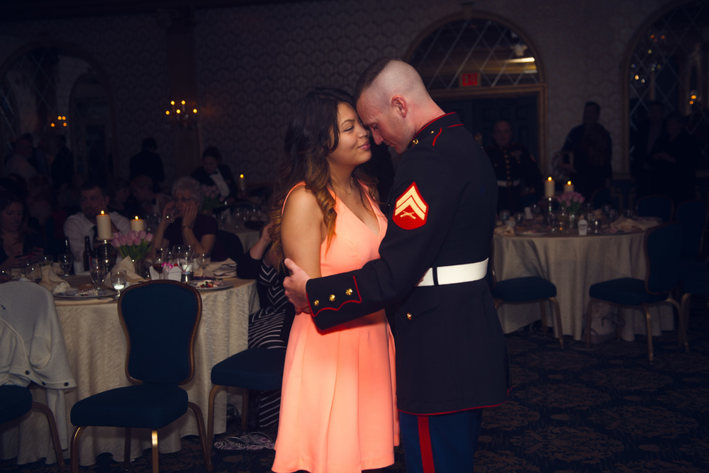 guest dancing reception smiling portrait THPHOTO American Marine