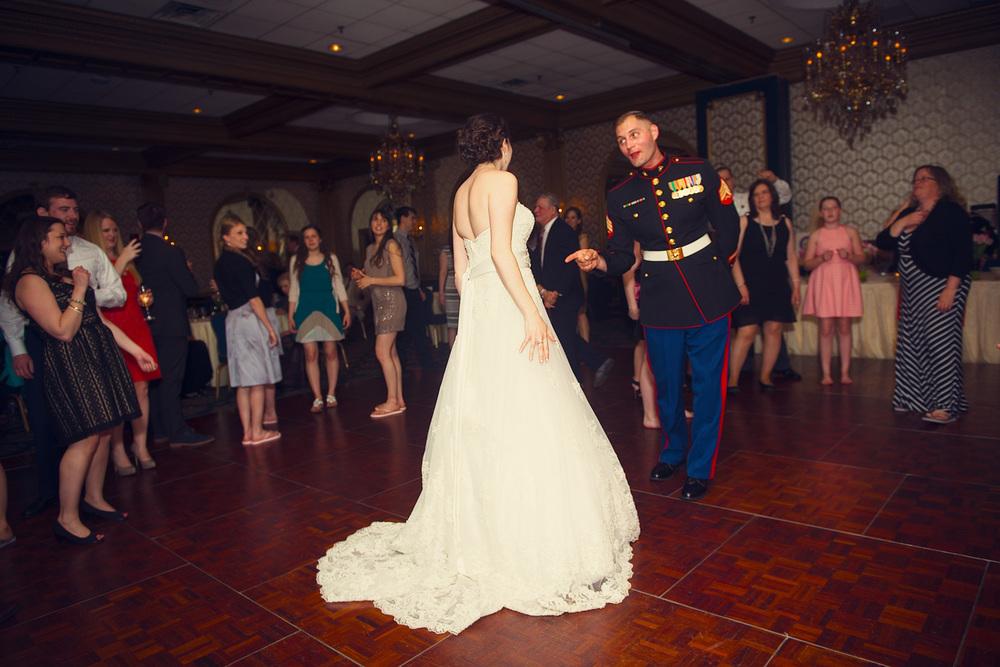 bride groom dance husband wife reception