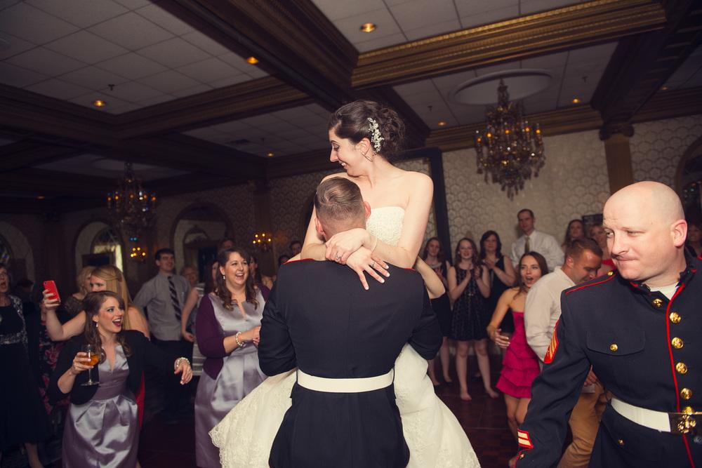 bride groom lift dance husband wife reception