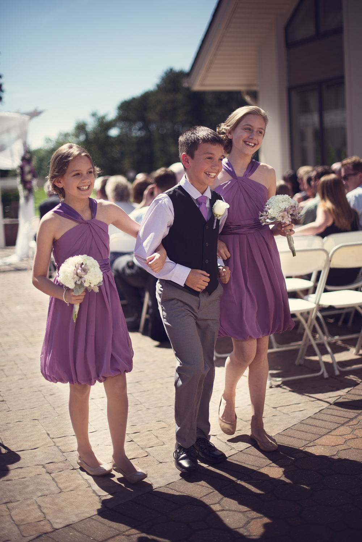 sunshine daytime wedding kids ceremony ringbearer bridal party portrait THPHOTO