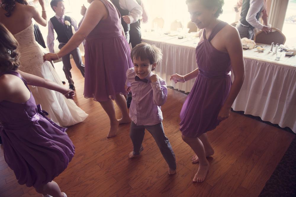 wedding reception dance child