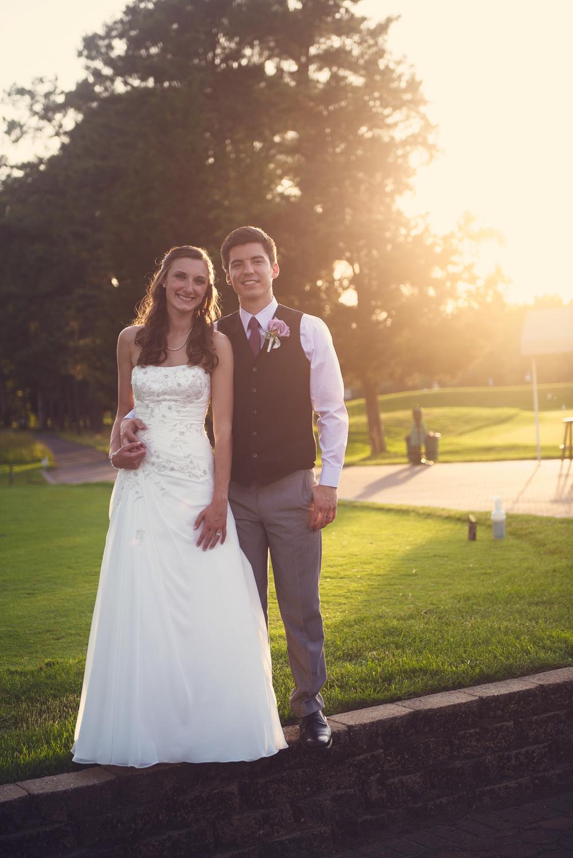 wedding bride groom sunset portrait THPHOTO Blue Heron Pines Golf Club NJ