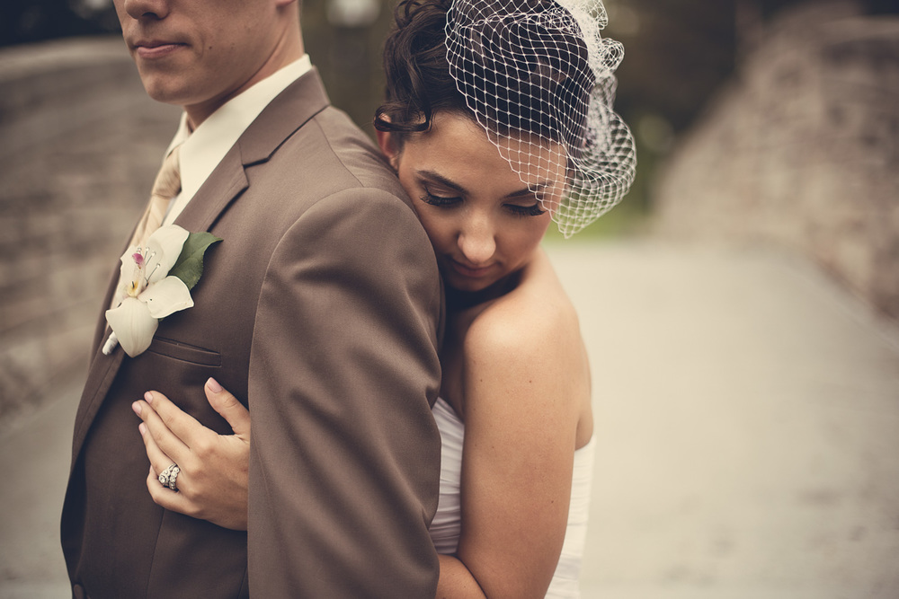Bride and groom hug West Orange, NJ THPHOTO