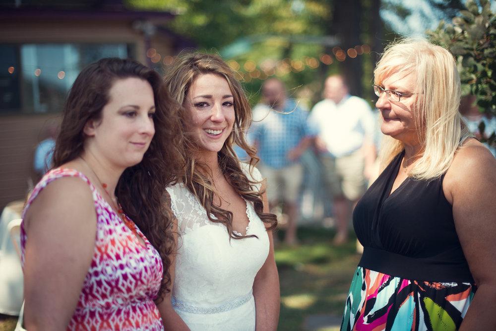 Wedding bride tears of joy Cranberry Lake Andover NJ THPHOTO