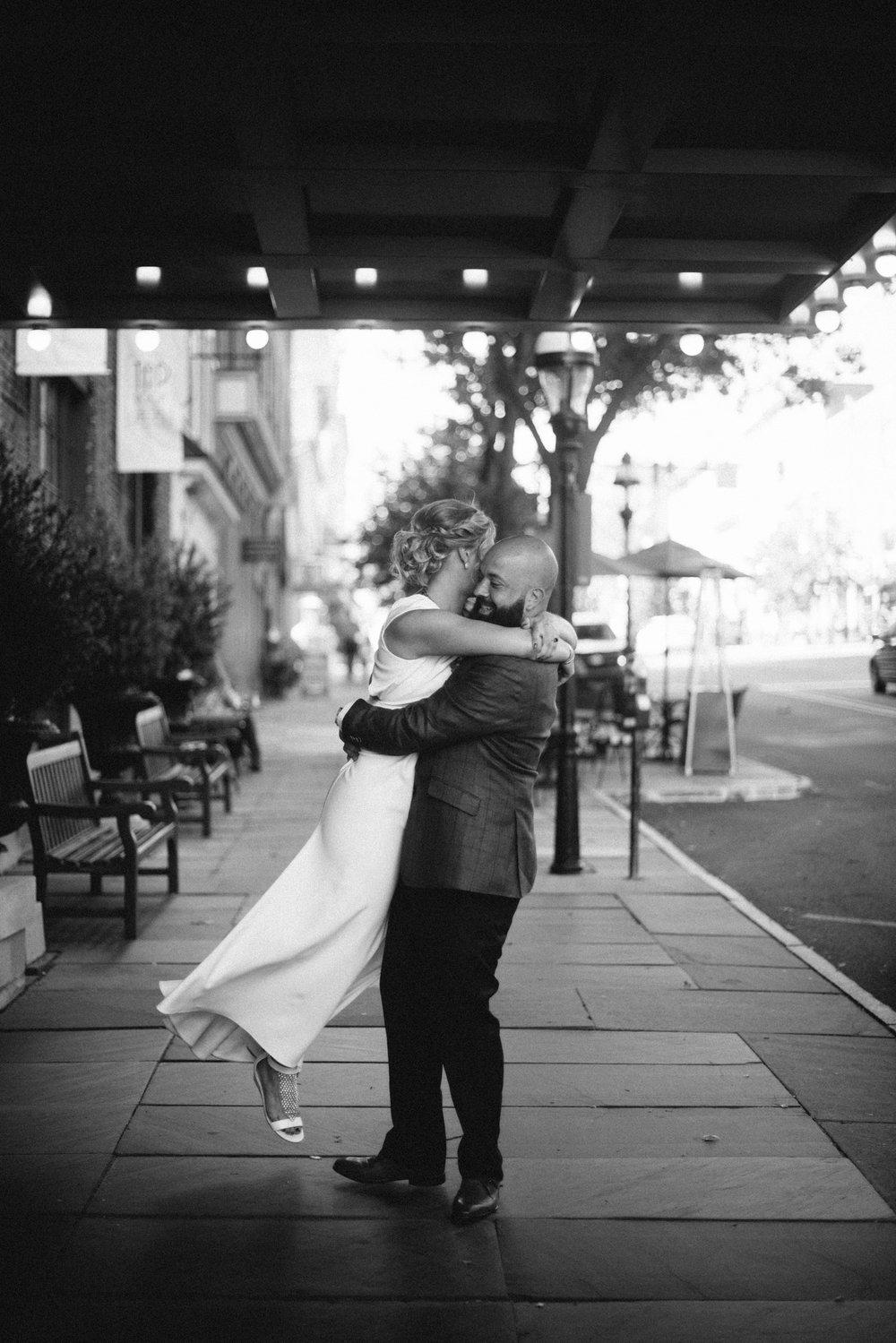 bride groom spin love hug wedding portrait Hotel Bethlehem Lehigh Valley THPHOTO