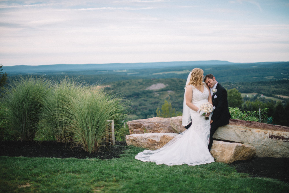 Emilee and Phillip Blue Mountain Ski Resort scenic wedding Palmerton, Pennsylvania