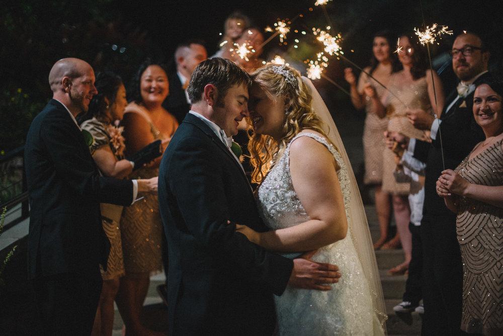THPHOTO bride groom couple married sparklers night Blue Mountain Ski Resort Palmerton PA portrait