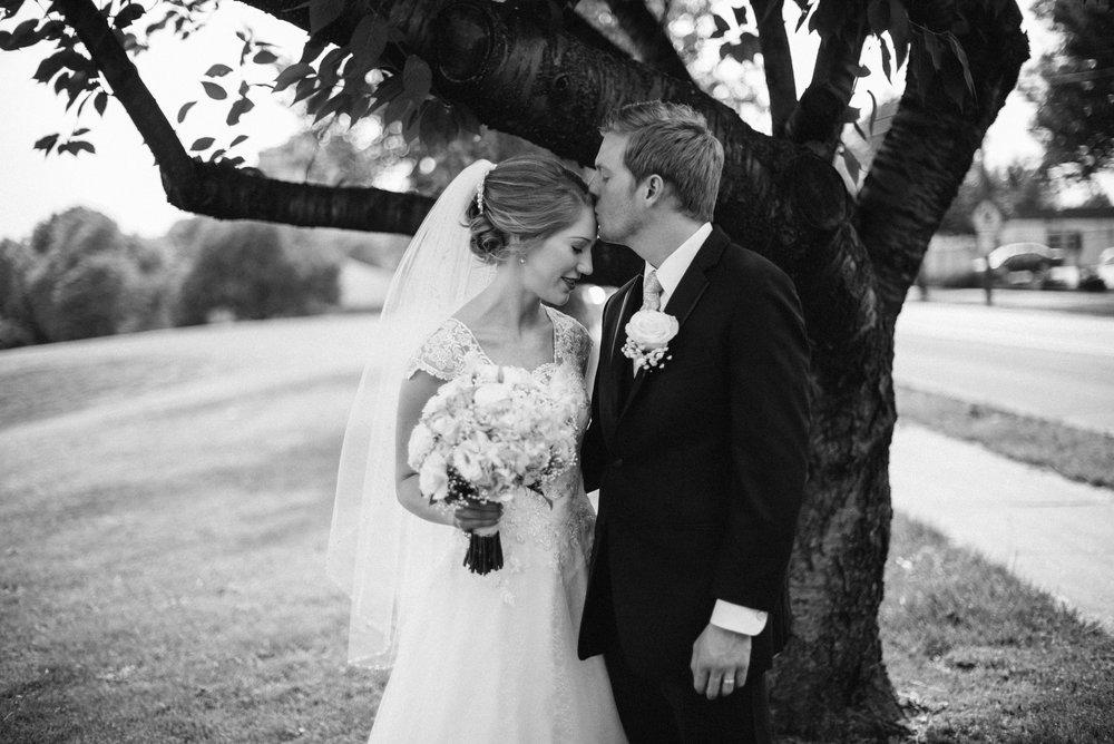 portrait wedding couple bride groom love