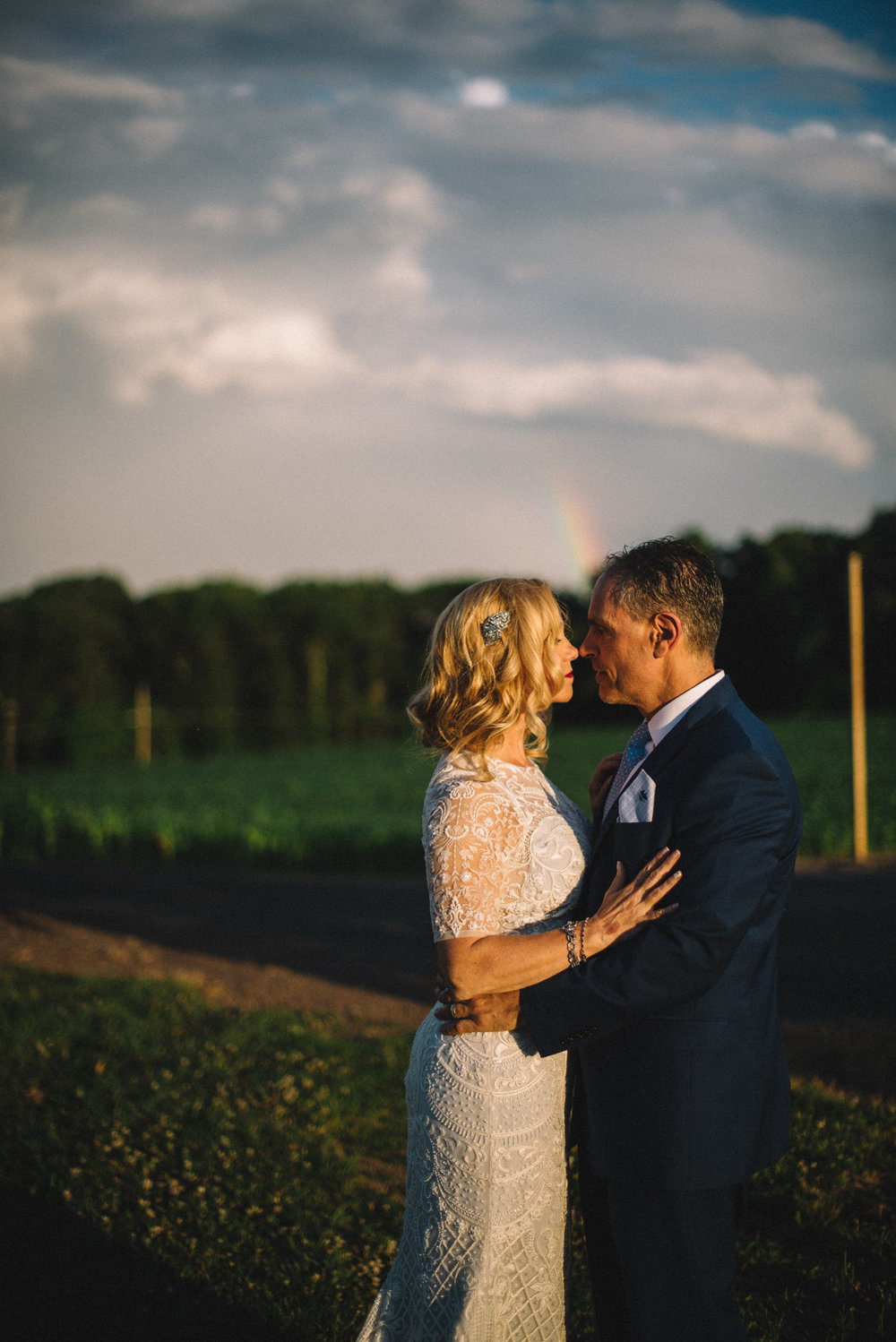 portrait lifestyle rainbow Blue Ridge Winery wedding bride groom THPHOTO