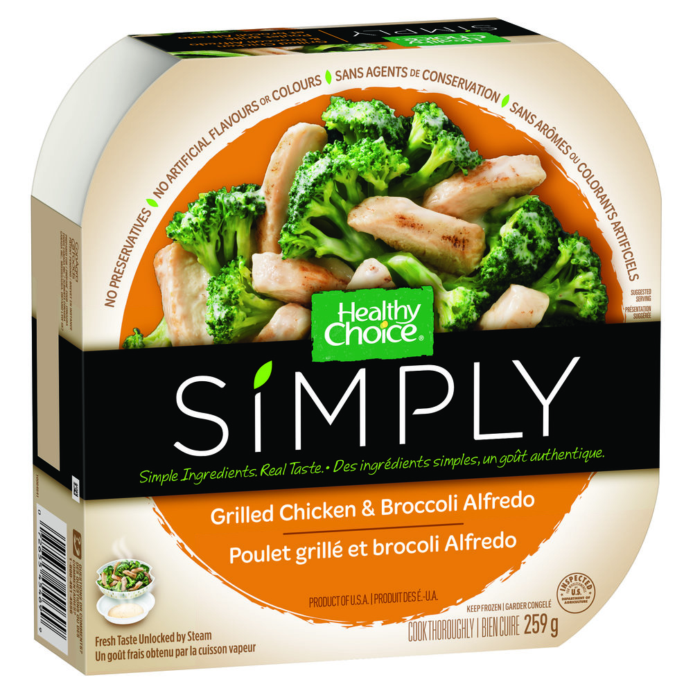 Healthy Choice Simply Grilled Chicken and Broccoli Alfredo
