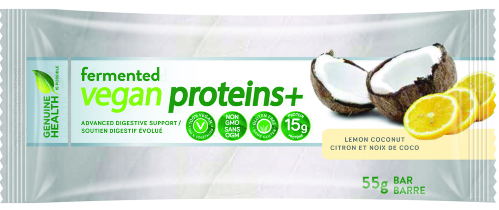Genuine Health Fermented Vegan Proteins+ Bars