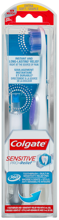 Colgate Sensitive Pro-Relief Toothbrush + Built-In Sensitivity Relief Pen