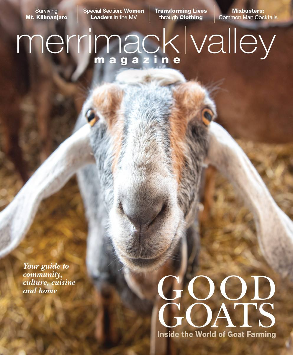 "Merrimack Valley MagaZine (Cover Photo) - ""Get Good with Goats: Inside the World of Goat Farming"""