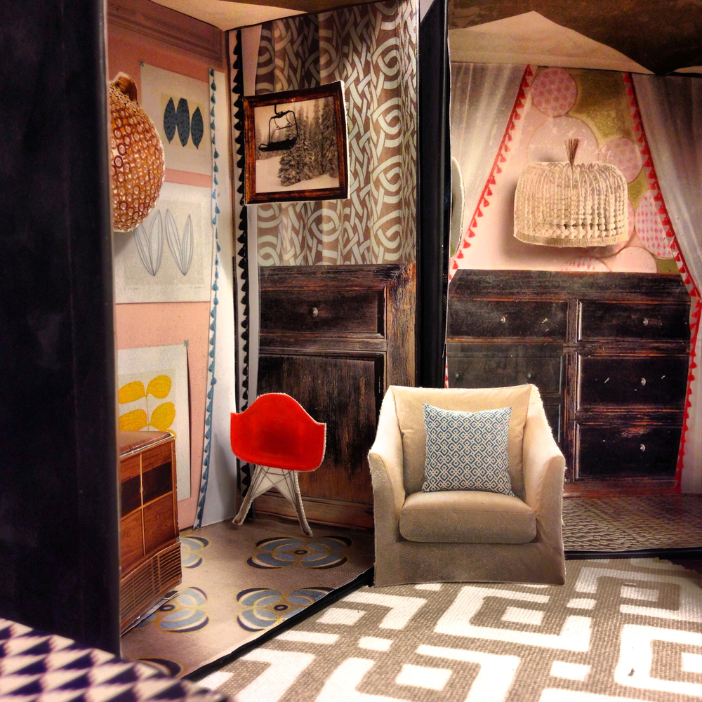 A DIY paper dollhouse made from upcycled catalogs