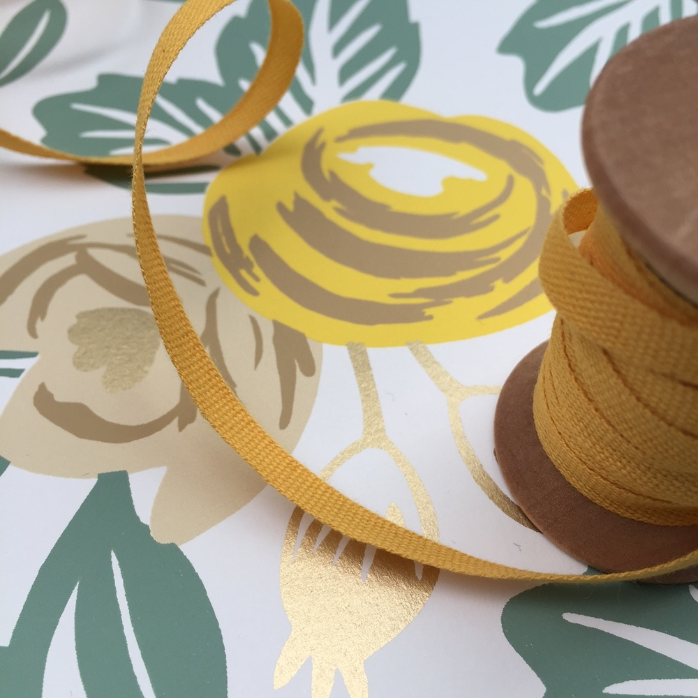 Bespoke Bamboo by Rebecca Pitts - Family Crest marigold ribbon.JPG