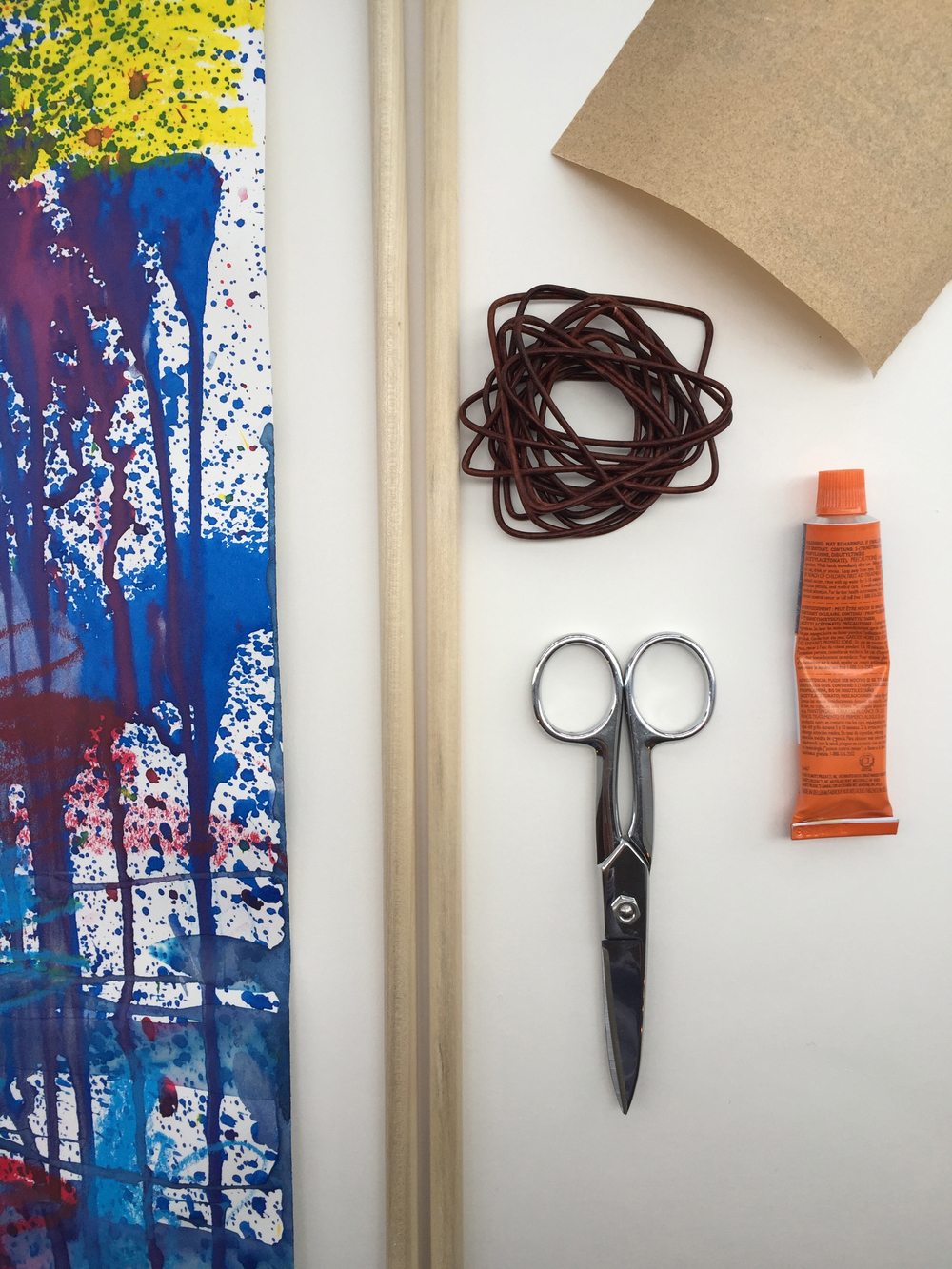 How to Hang Kids' Artwork Without A Frame by Rebecca Pitts