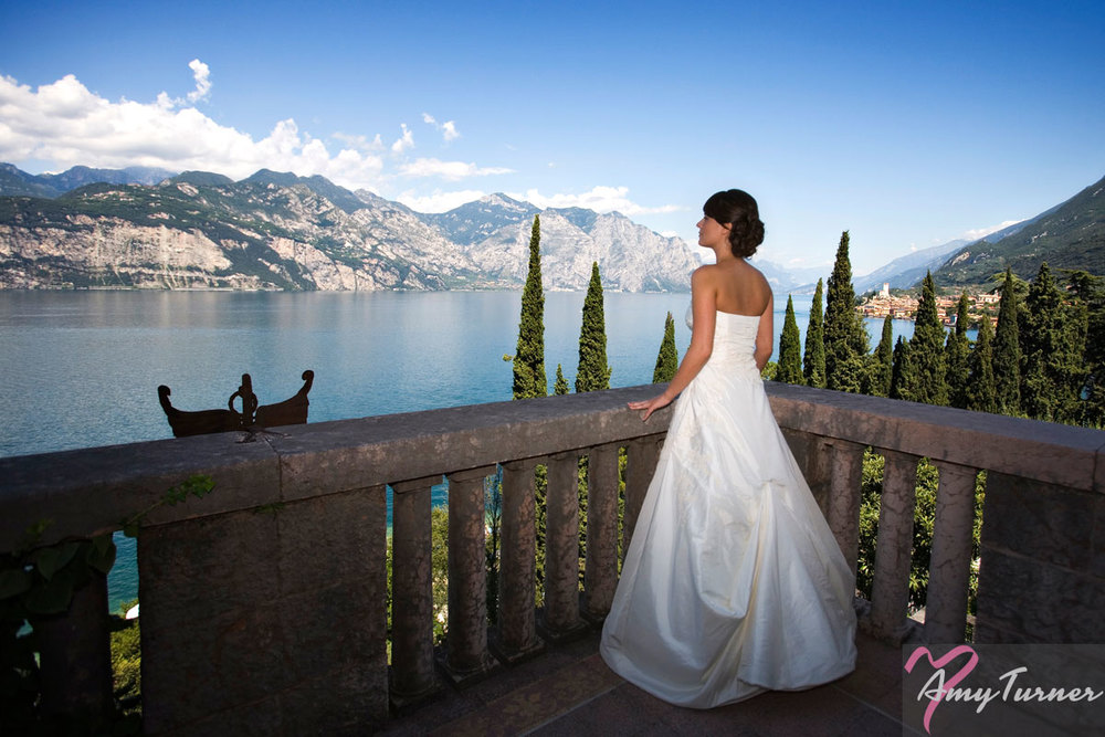 Lake Garda wedding - Bride
