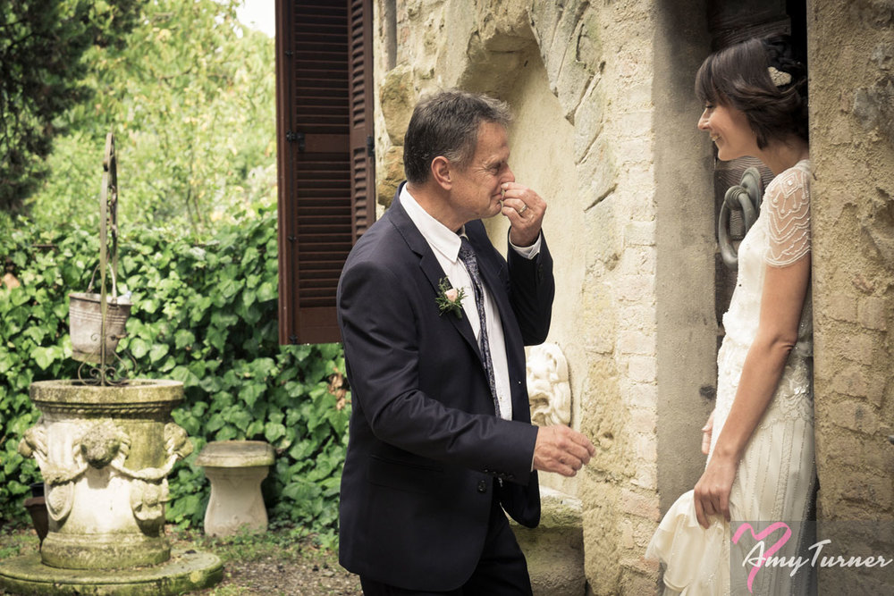 Tuscany/Umbria wedding - Bride & Father