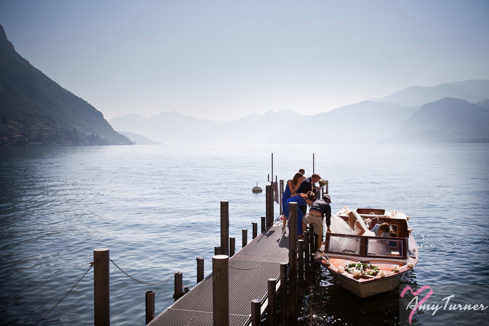 Lake Como wedding - Bride
