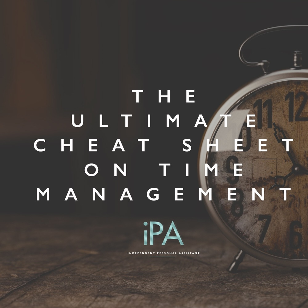 the ultimate cheat sheet on time management