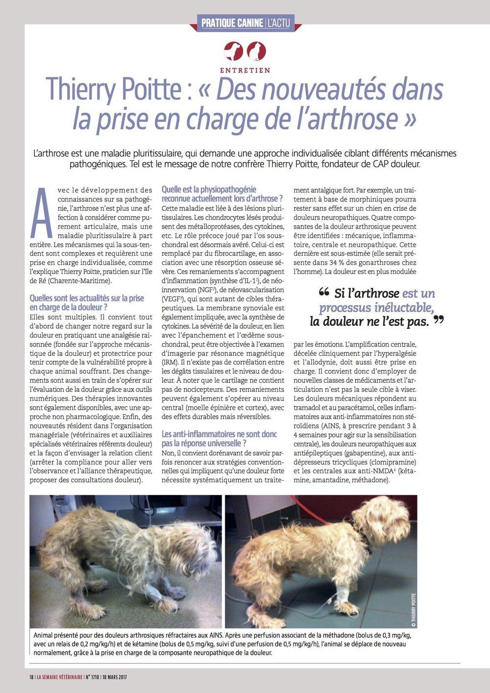 Semaine vétérinaire n° 1710 10 mars 2017