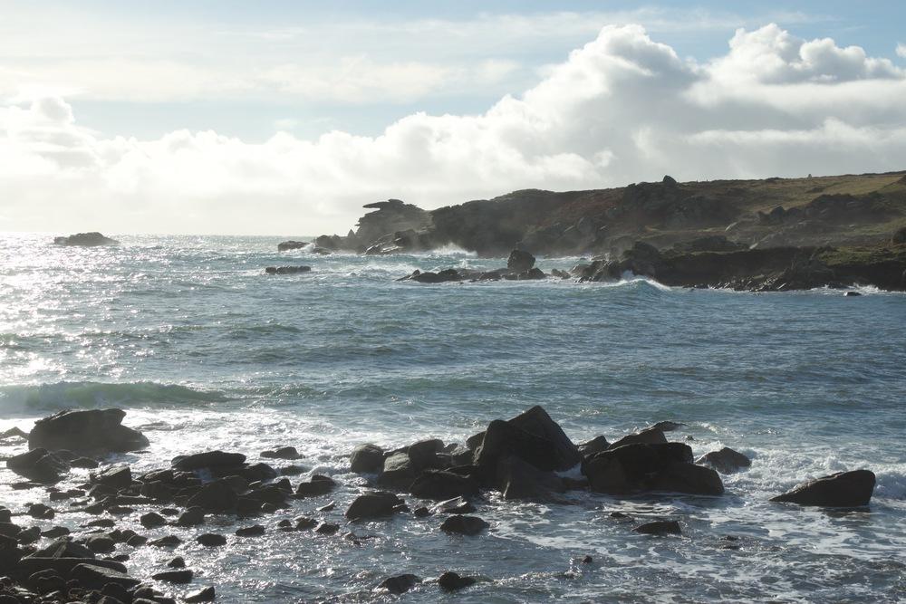 Enjoy watching the waves crashing on Pulpit Rock