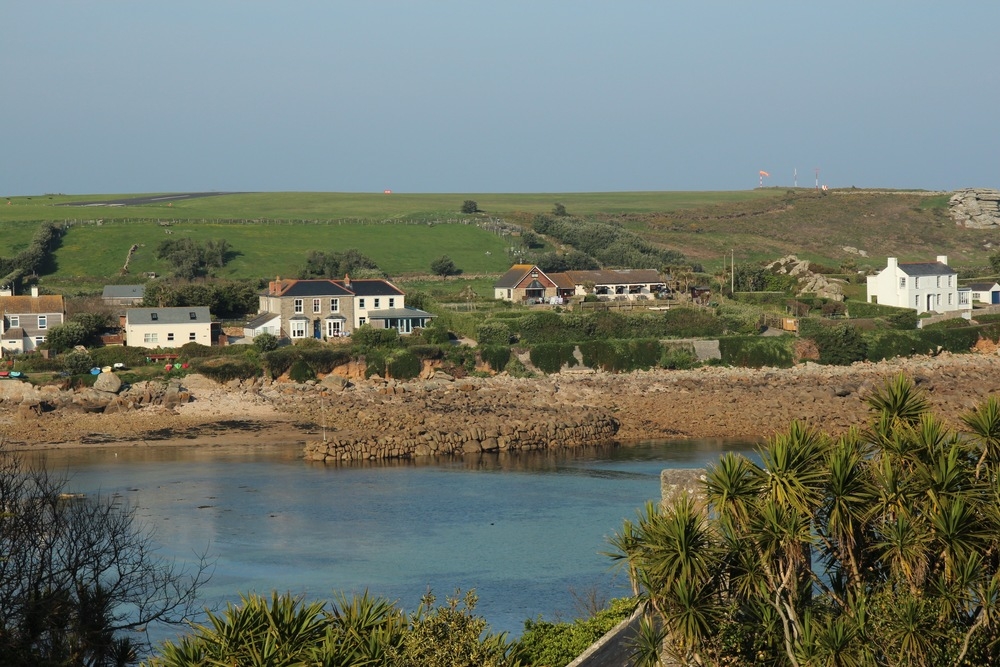 Looking across Old Town Bay to Porthenor B&B