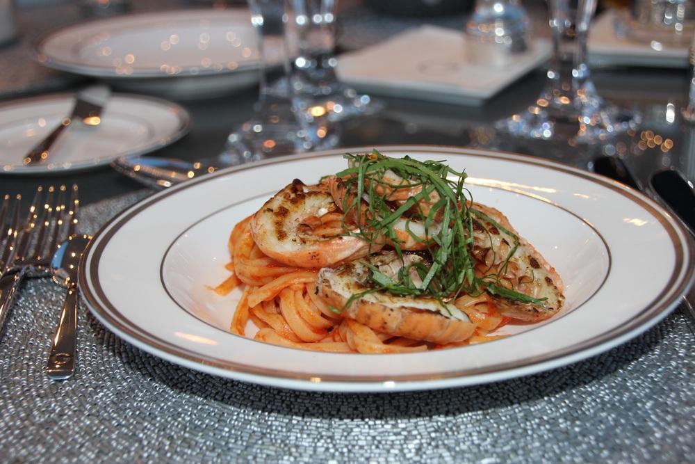 Most delectable shrimp pomedoro spaghetti!