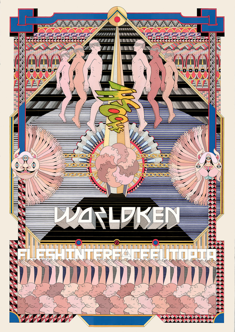 Worldken, 2017 Acrylic paint, pen, fibre tipped markers and gouache on paper  101 x 73.5 cm