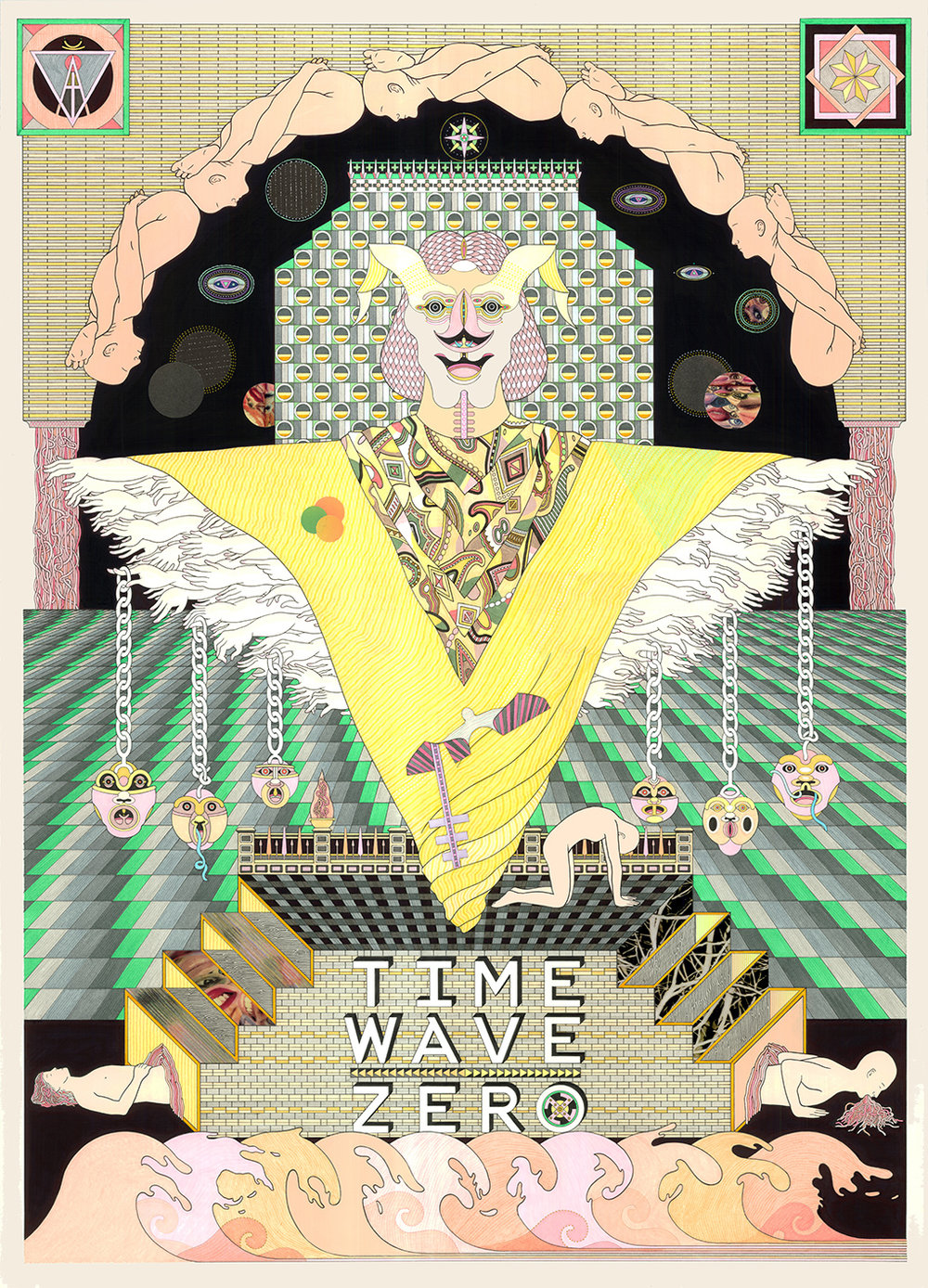 Time Wave Zero, 2014 Pen, fibre tipped markers, metallic paint and gouache on paper 101 x 73.5 cm