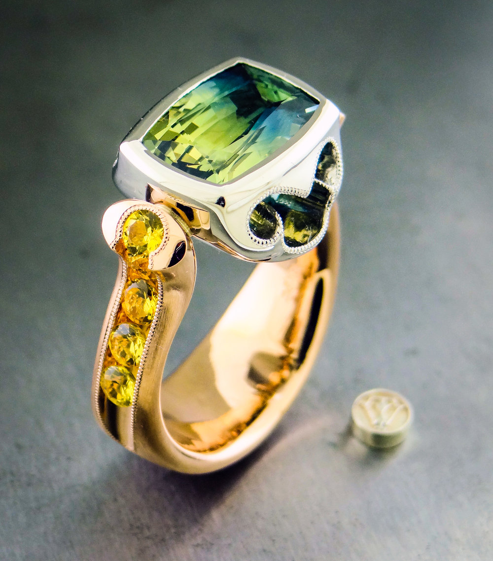 Montana and Yellow Sapphire Ring