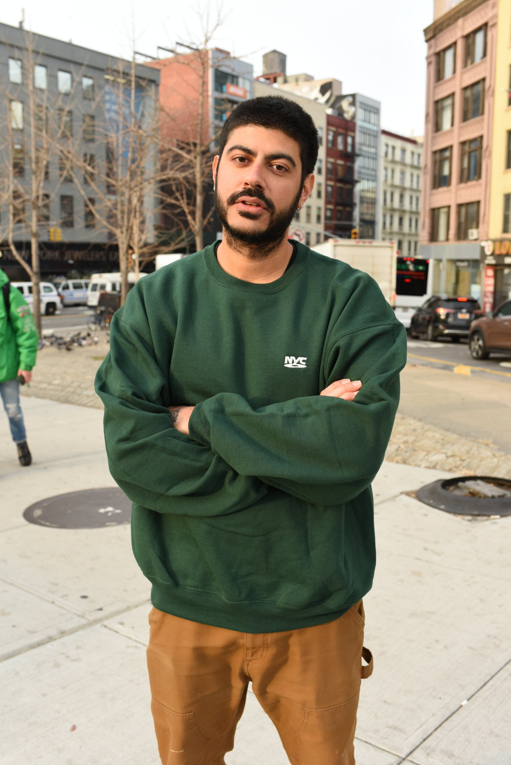 NYC - DVD - SWEATSHIRT - FOREST GREEN - ON SICK NETHI