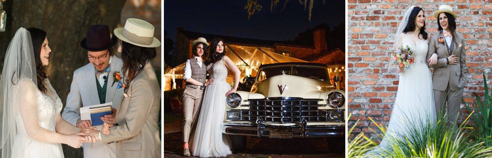 When Lauren & Jess were looking for the perfect setting for their Jazz-age garden party wedding, they looked no further than Casa Feliz. Farm tables, themed attire and vintage decor meshed beautifully to evoke a Gatsby feel at Casa!