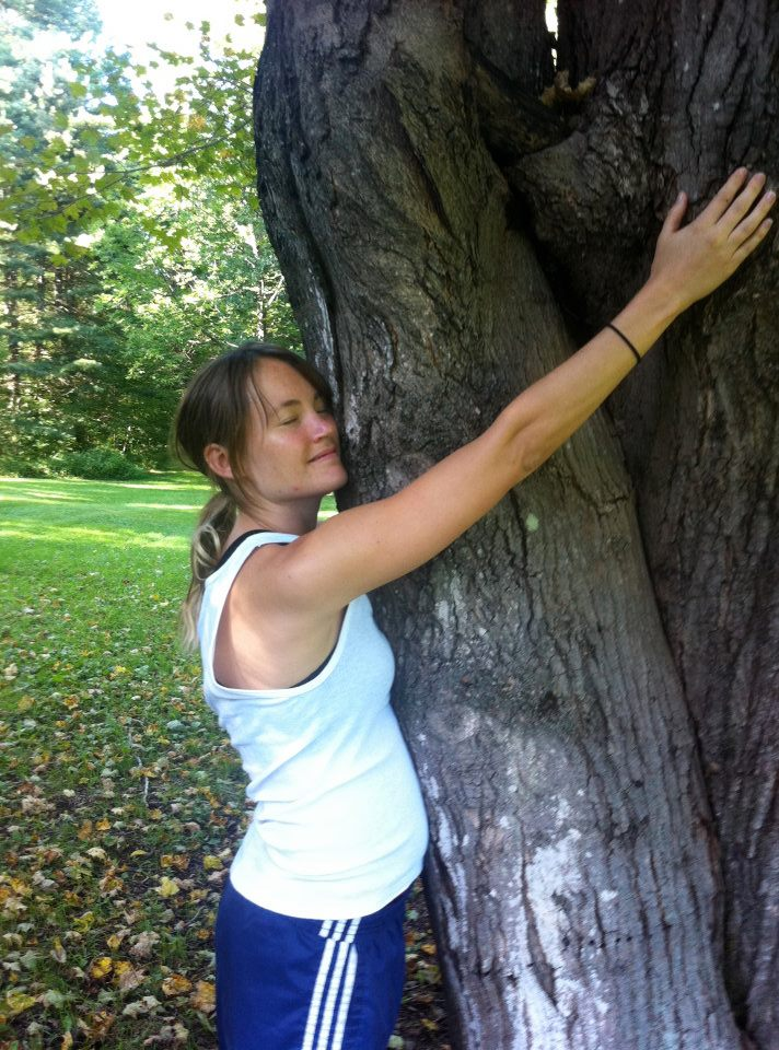 Hugging a tree in Blind Walk.jpg