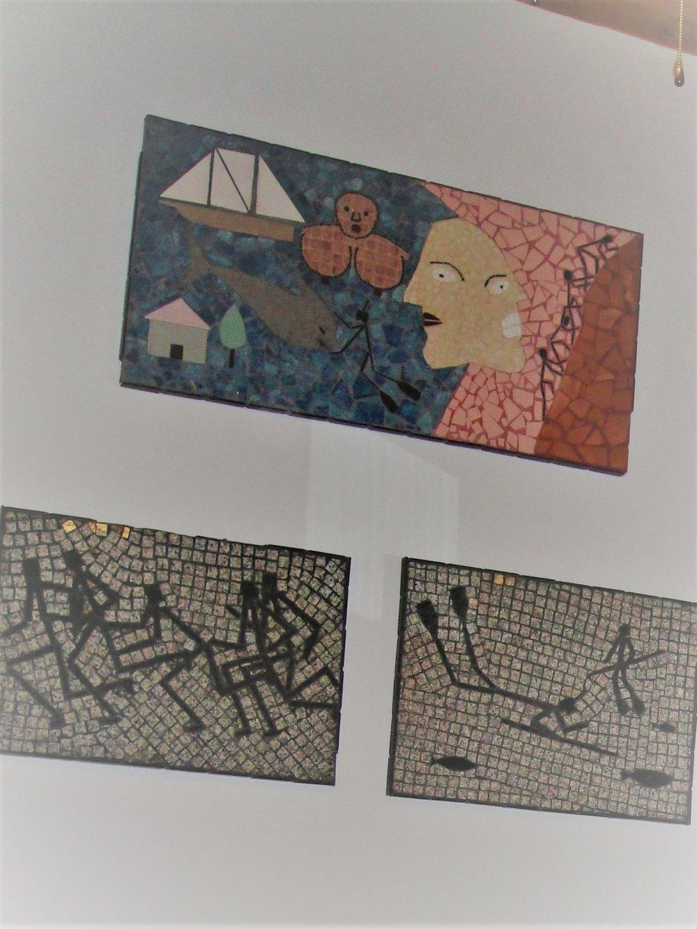 Alessio's hand laid tile mossaics.