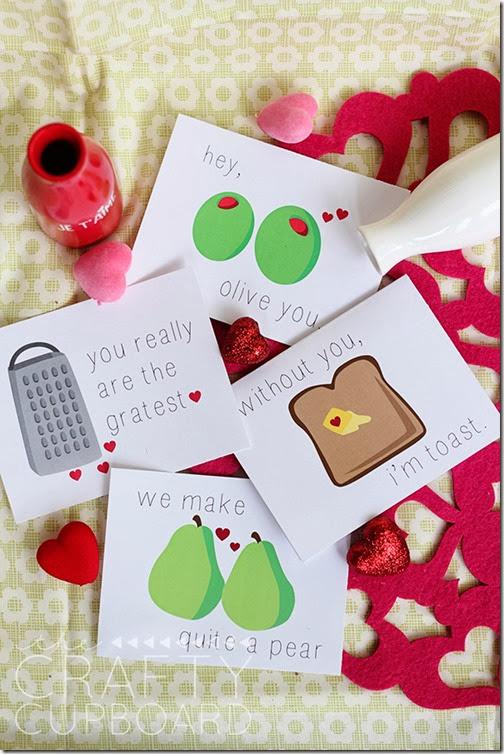 http://craftycupboard.net/2014/01/free-funny-foodie-valentine-printables/