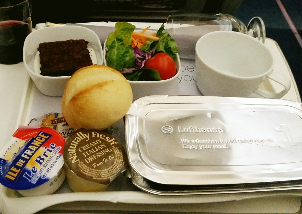 Lufthansa airplane food.jpg