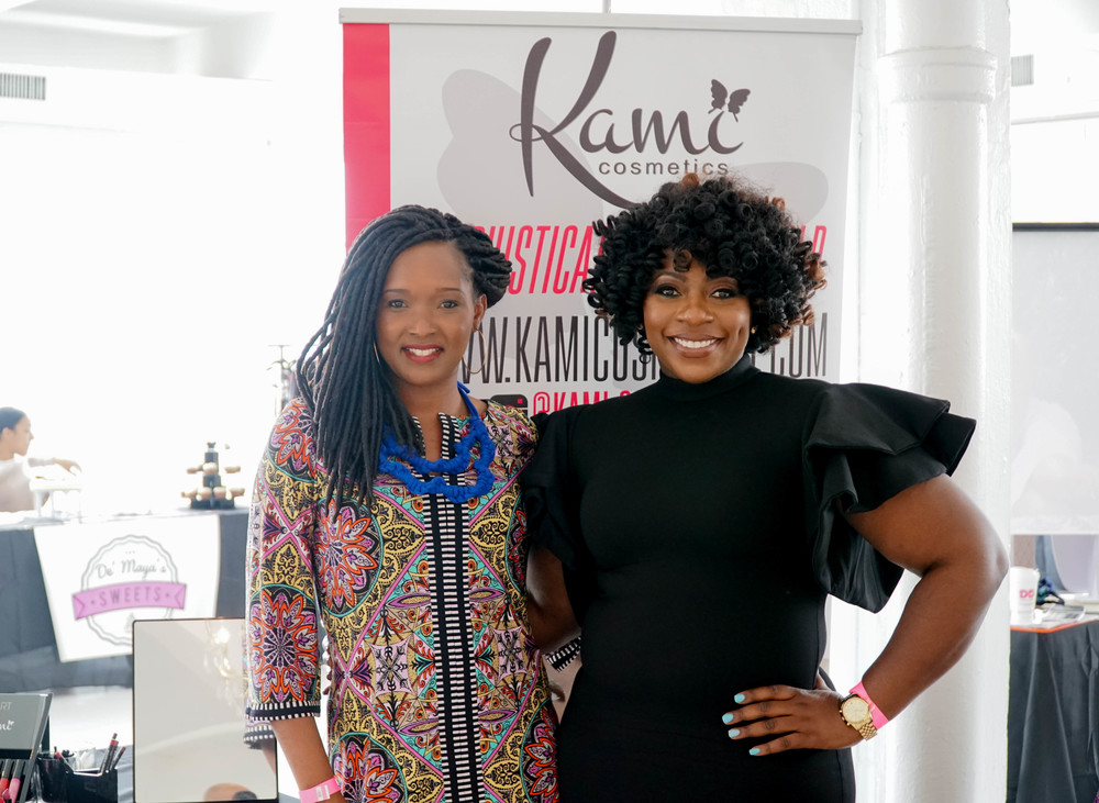 with K ami Cosmetics  Founder and Owner
