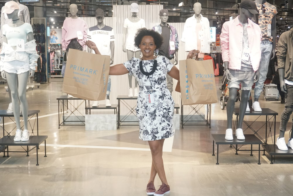 Martine Cadet Lifestyle Blogger at Primark in Staten Island New York