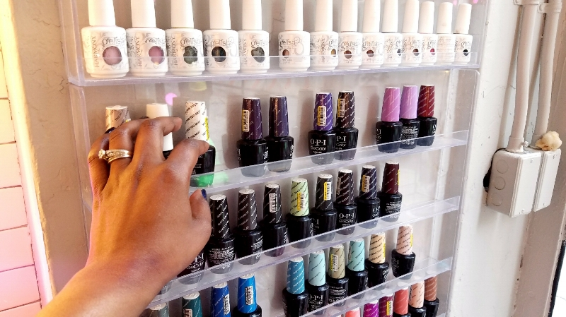 Gel Manicure selection at MB45 salon in Tribeca NYC